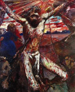 Red Christ by Lovis Corinth