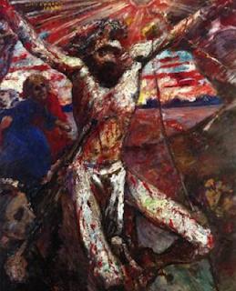 Red Christ by Lovis Corinth