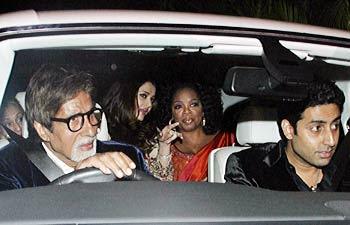 photos of oprah winfrey in india with amitabh bachchan, abhishek and aishwarya