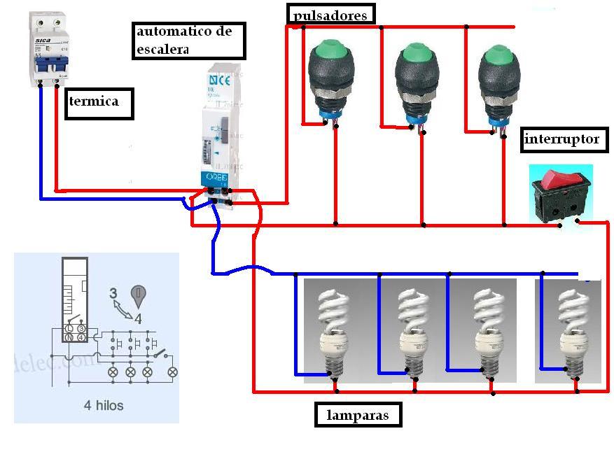 Blog del electricista automatico de escalera 4 hilos for Escalera de electricista