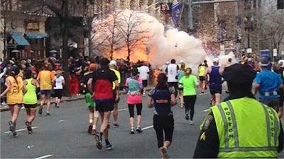 Boston marathon explosion photos