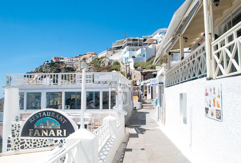White buildings in Fira, Santorini, Greece