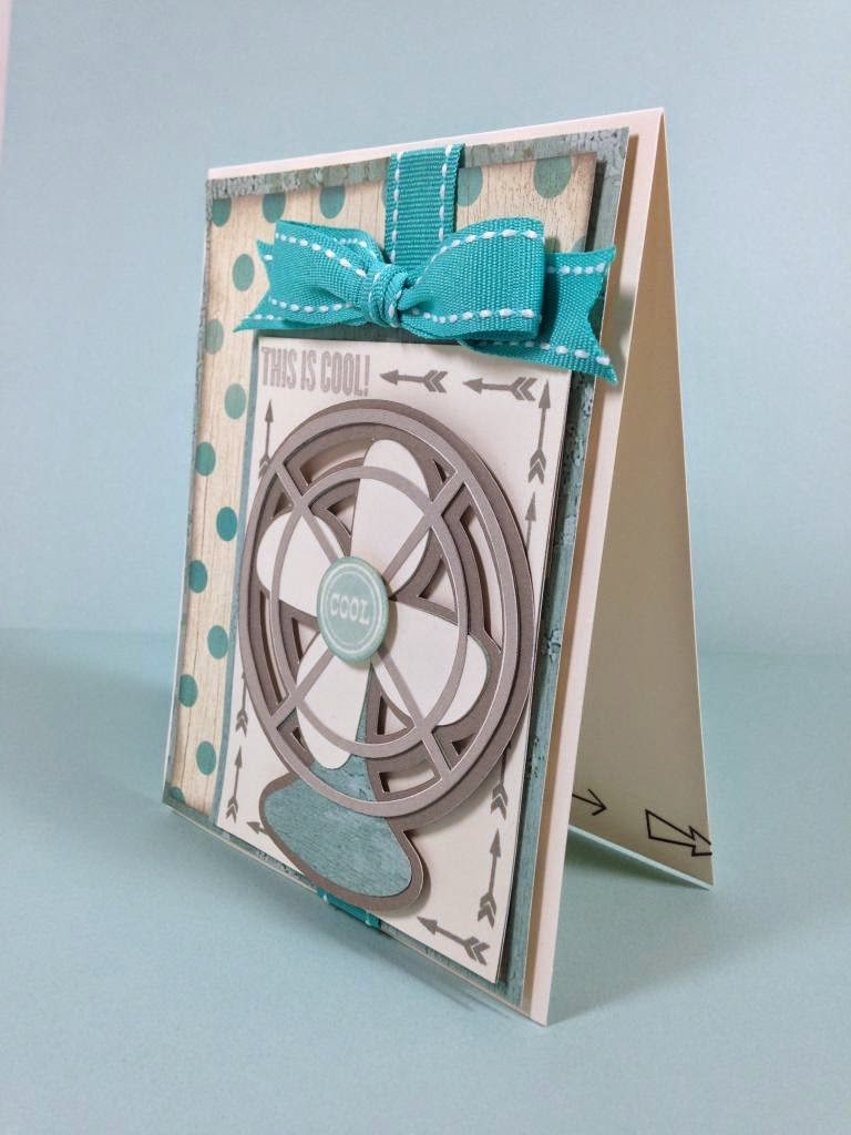 Cricut Cool Fan card sideview