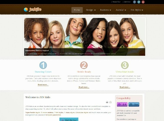JSN Kido Responsive Theme & VirtueMart support
