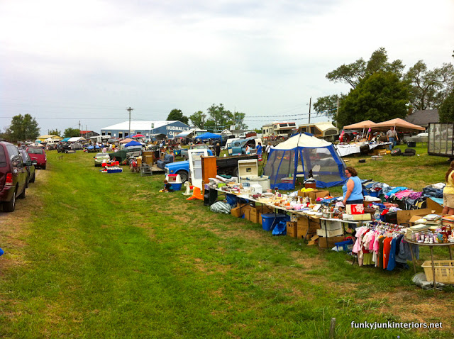 world's longest yard sale via Funky Junk Interiors