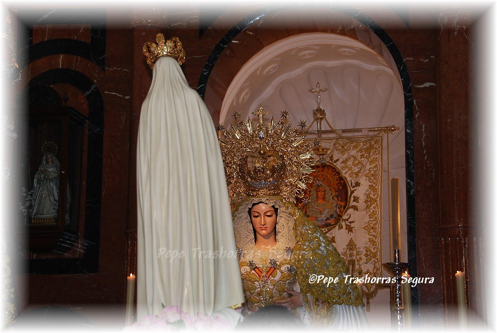 El Inmaculado Corazón de María de Fátima en la Capilla de la Soledad.