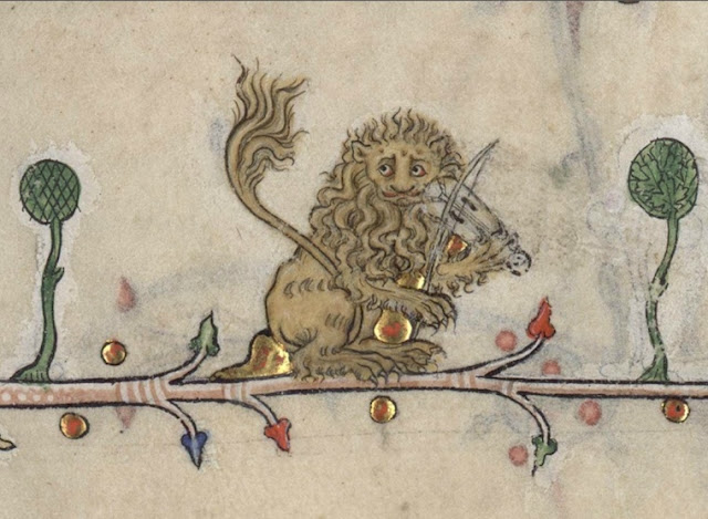 Day in Medieval Europe Lion with Violin