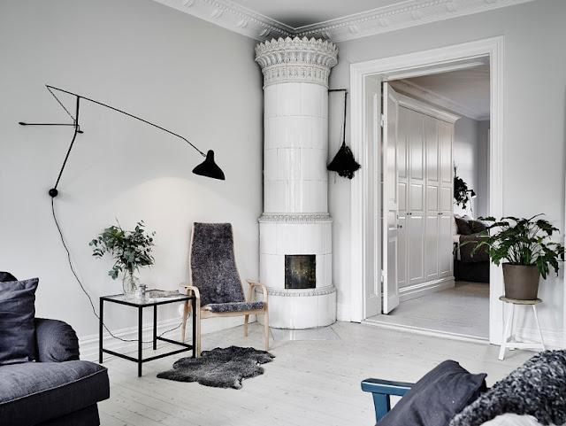 apartamento escandinavo con una cocina increible