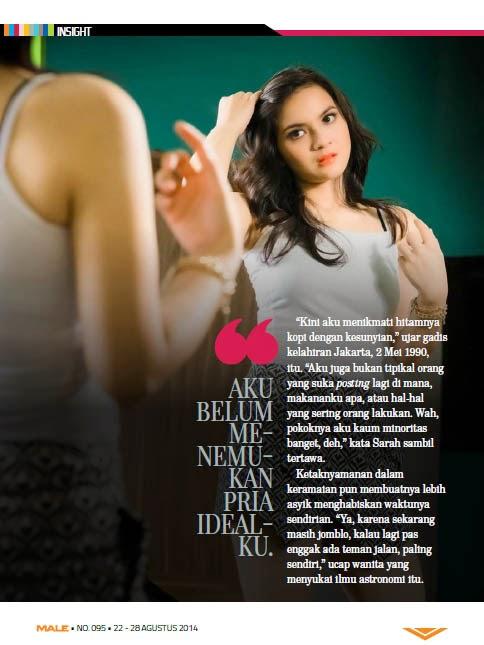 Sarah Shafitri di Majalah Male Agustus 2014 | wowseleb.blogspot.com