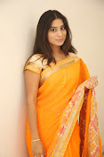 Midhuna New photo session in Saree-thumbnail-20