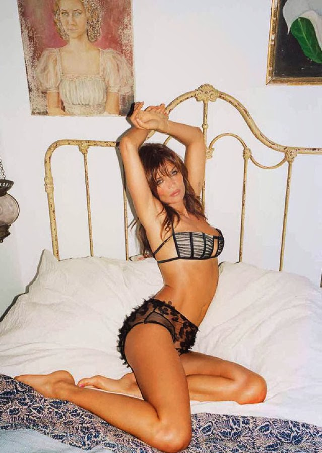 Helena Christensen in the bed