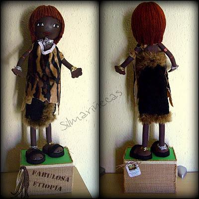 Fofucha de la étnia etíope Hamer-