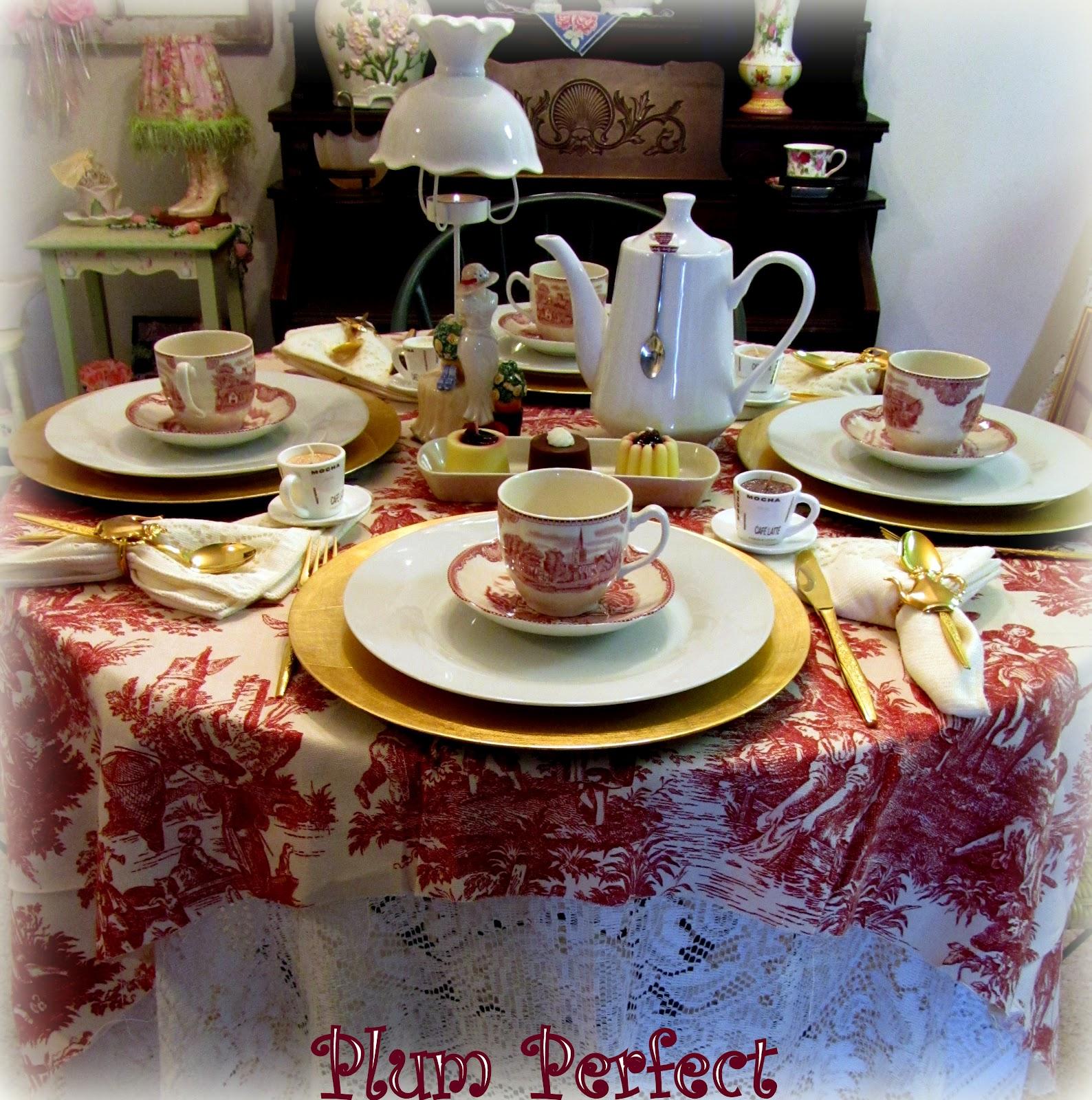 Plum Perfect Coffee Or Tea Tablescape