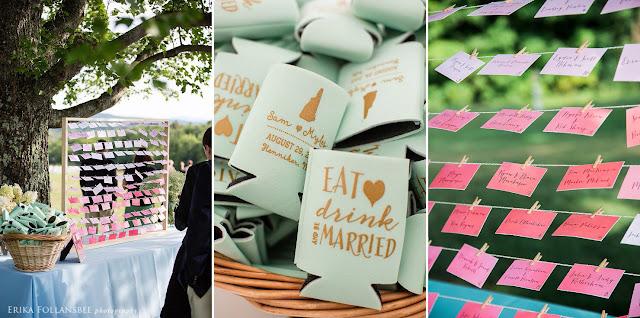 August backyard wedding