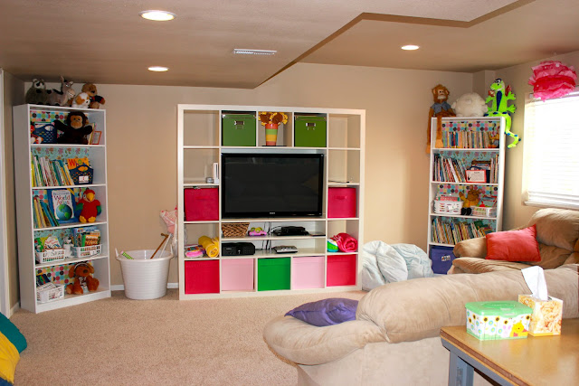 unfinished basement playroom ideas basement playroom adding color