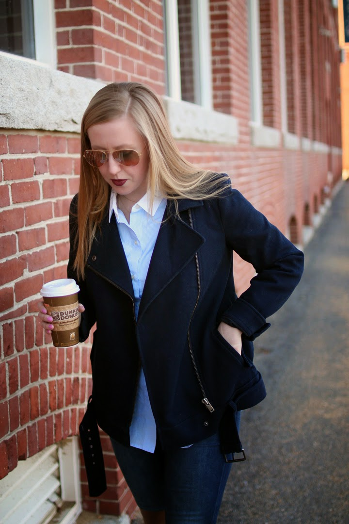 dolce vita meris over the knee boots, dunkin latte, boston blogger, boston fashion blogger, style blog