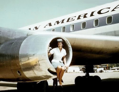  Pan Am stewardess finds the orifice too tight