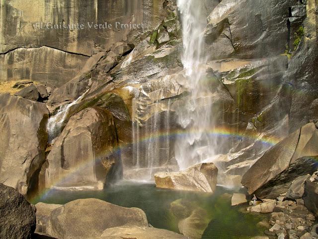 Arco Iris en Vernal Fall, Yosemite,  por El Guisante Verde Project