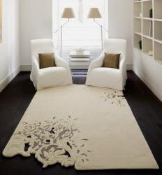 tapete de sala com bordado recortado