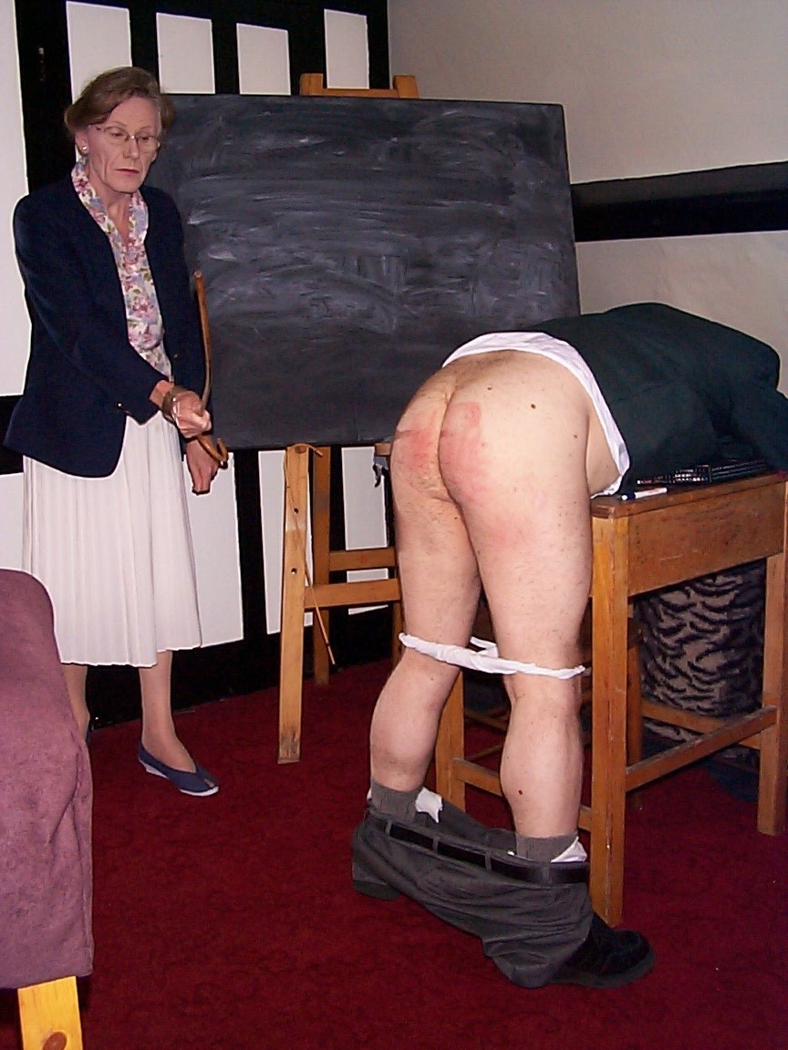 An older lady who has not forgotten how to deal with naughty boys ...