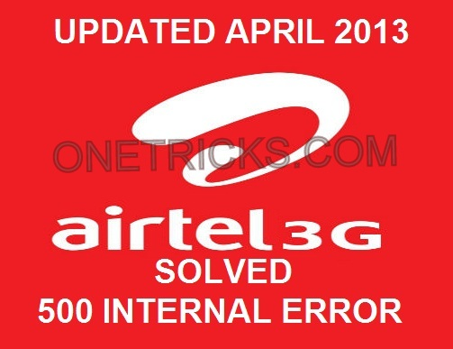 AIRTEL 3G HACK APRIL 2013 WORKING AGAIN