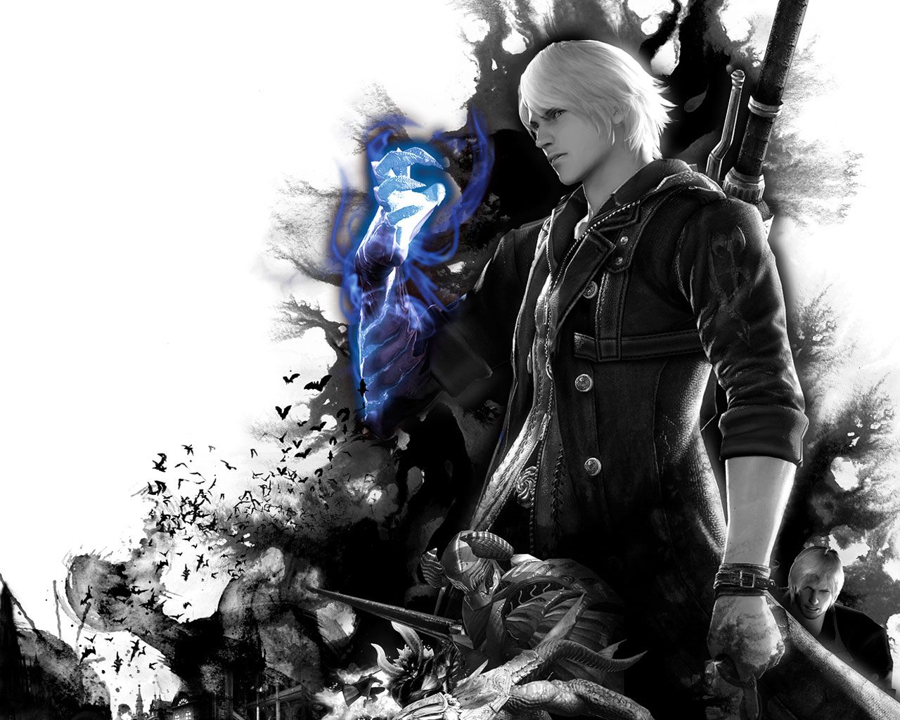 Video game gallery wallpaper avatars more devil may cry 4 nero dmc4 wallpaper background capcom action img image picture pic voltagebd Gallery