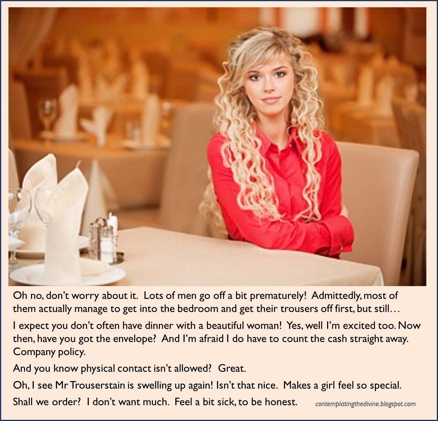 Humiliating dinner date