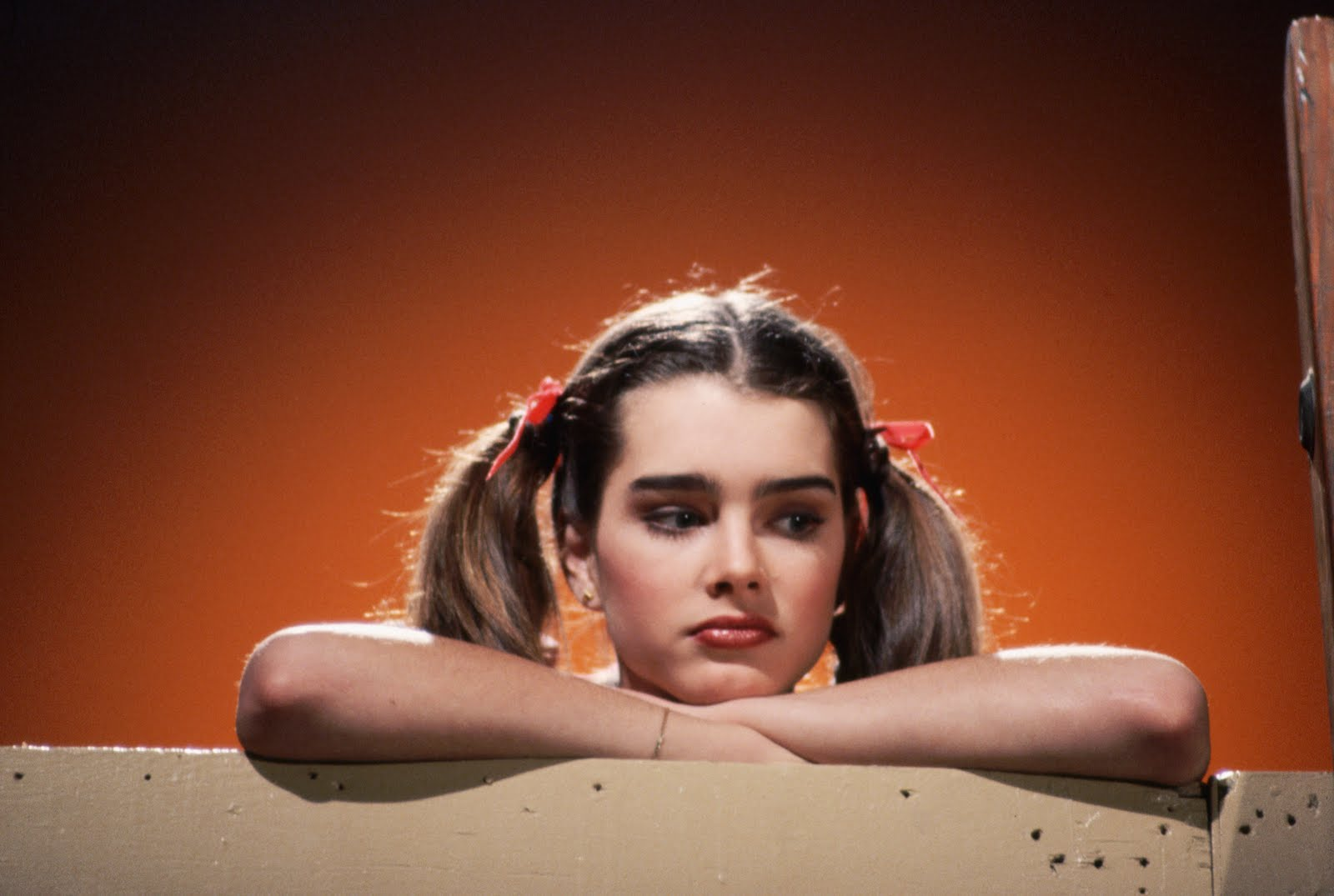Brooke Shields was quite the 'pretty baby' in pigtails as a young teen ...