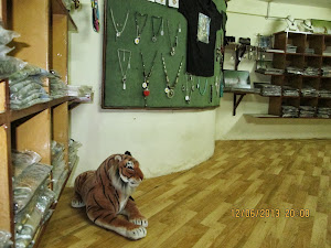 """Tiger Guards"" the conservation project shop at ""Nature Heritage Resort""."