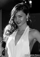B&W pictures of Miranda Kerr wearing a sexy white dress, at ESPY awards - picture 2