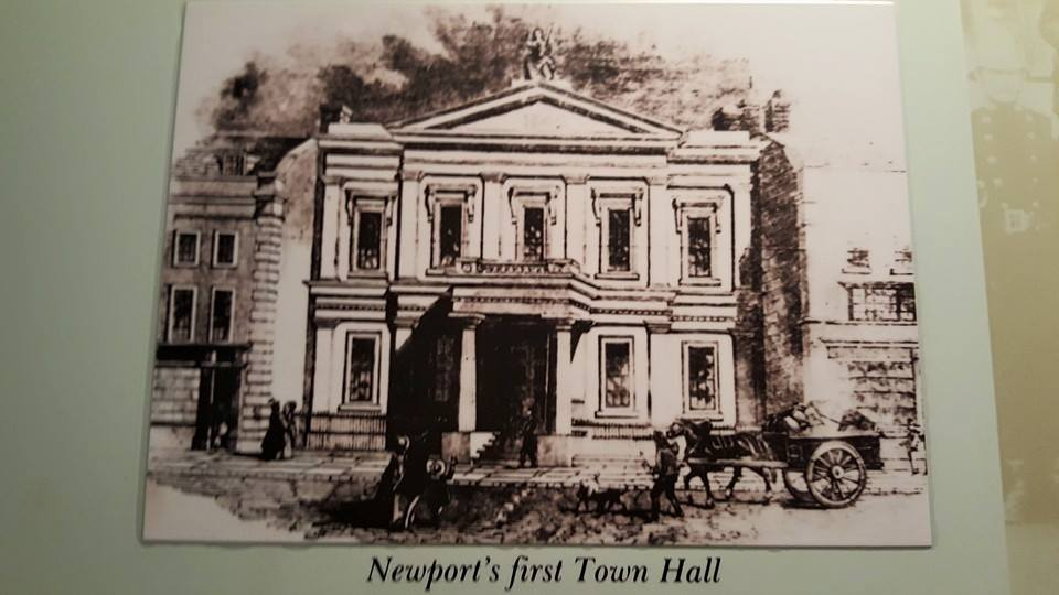 The old Town Hall in Newport