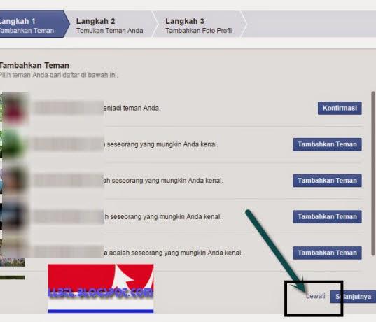 langkah mendaftar facebook baru