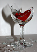 Shattered glass broken promises. Fine crystal to carry a heart upon