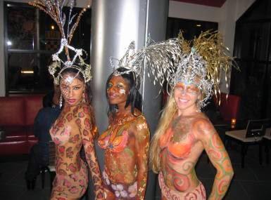 body paint girls