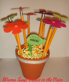 A sweet thank you gift, Pencil Flowers