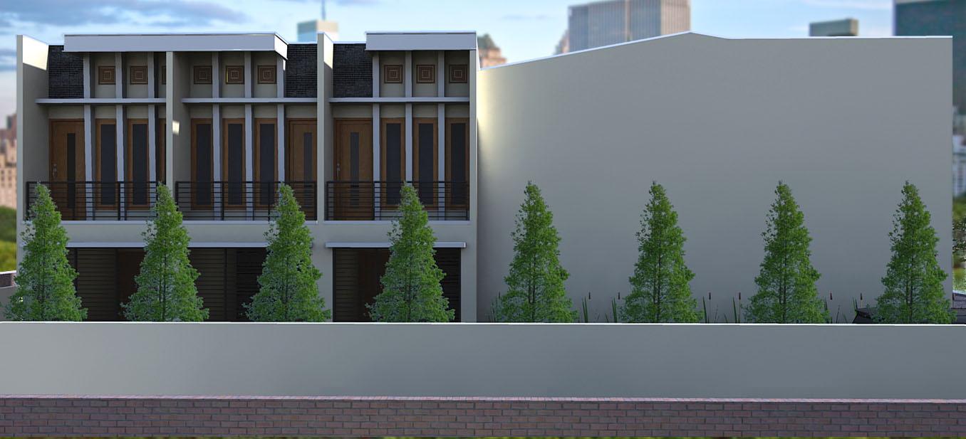 panduan bangunan rumah rumah kost 2 tingkat dengan konsep