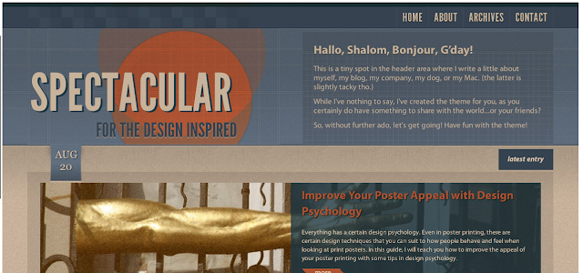 Spectacular Wordpress Theme