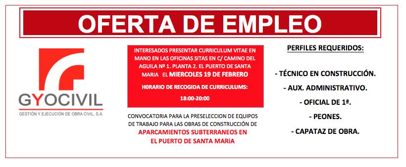 Orientacion profesional oferta de empleo en el puerto de sta mar a - Ofertas de trabajo en puerto real ...