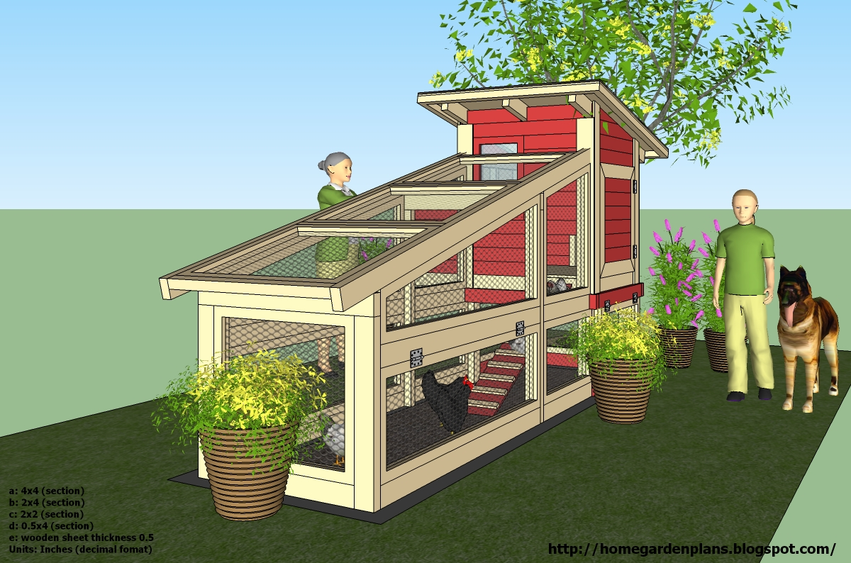 Home garden plans s100 chicken coop plans construction for Small chicken house plans