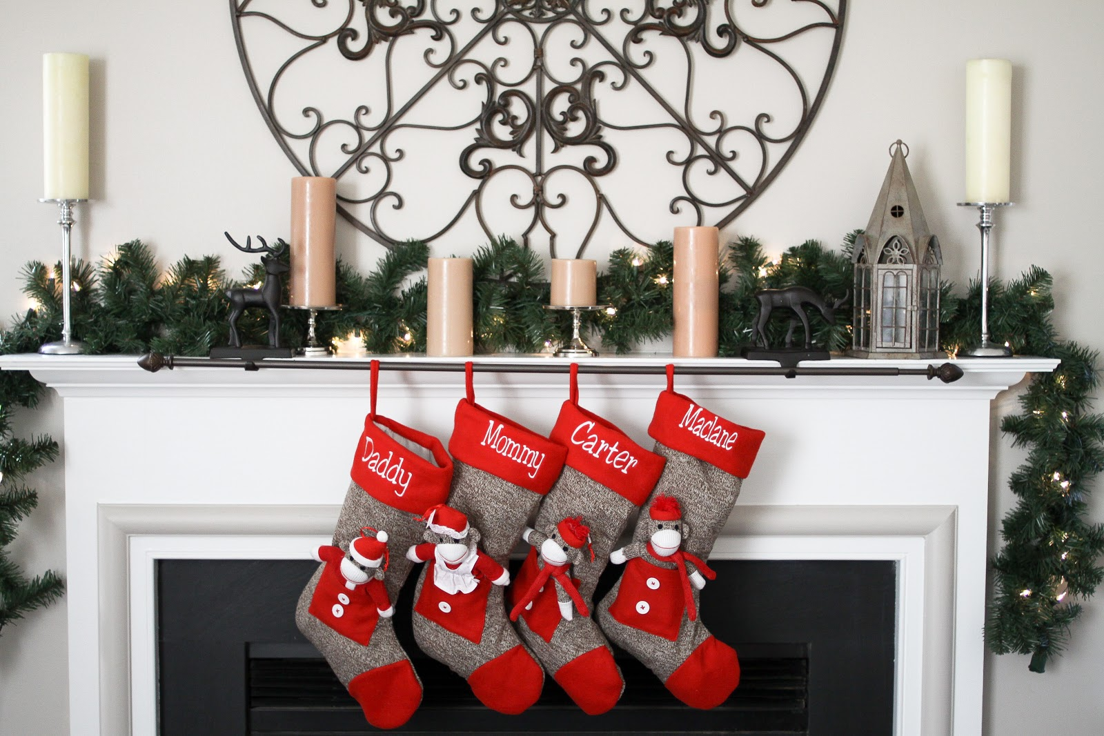 christmas stocking hanging rod easy diy