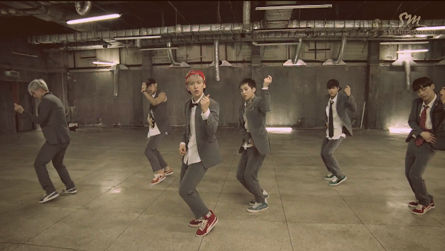 EXO 'Growl' mirrored Dance Practice