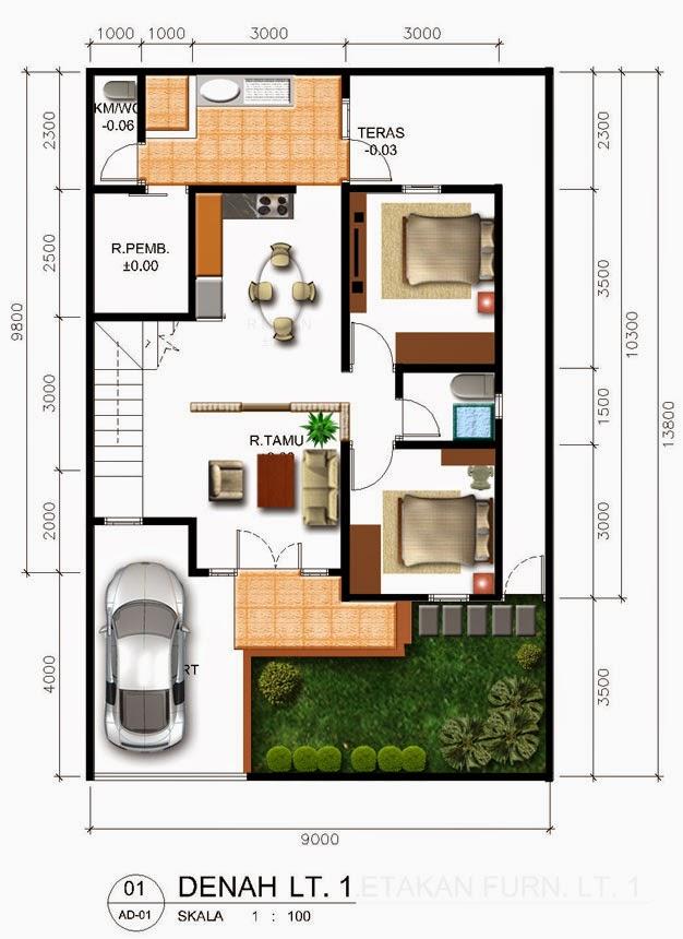 Rumah minimalis 2 kamar 1