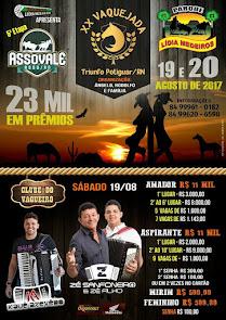 Dias 19 e 20 de Agosto tem a grande Vaquejada do Parque Lídia Medeiros em Triunfo Potiguar
