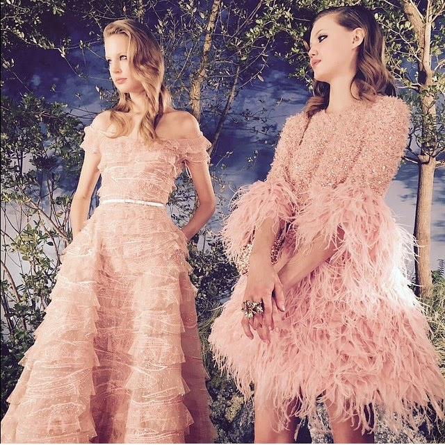 elie saab spring summer 2015 couture ruffles pale pinks