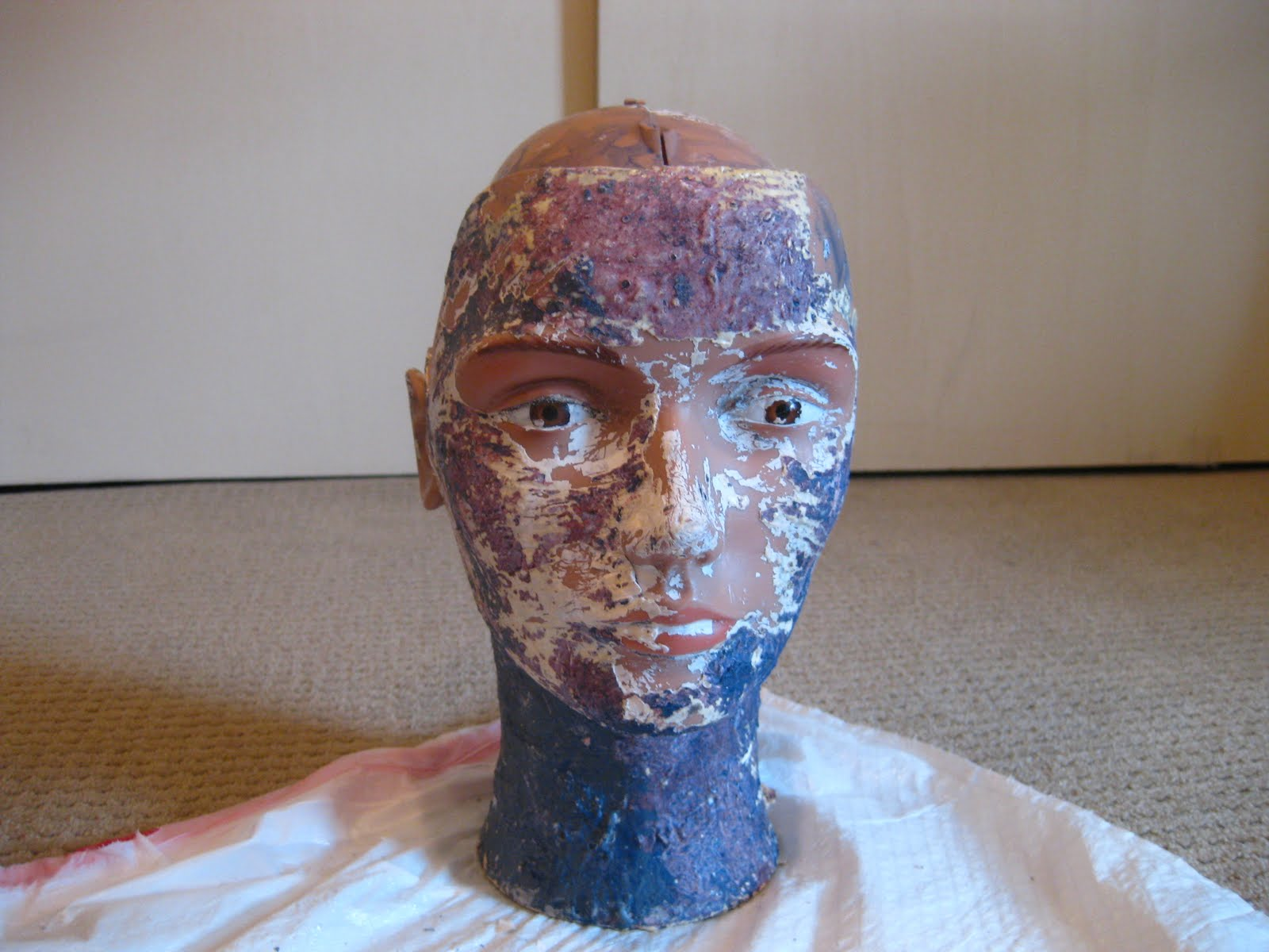 Objectsandsubjects making a paper mache head for Perfect paper mache