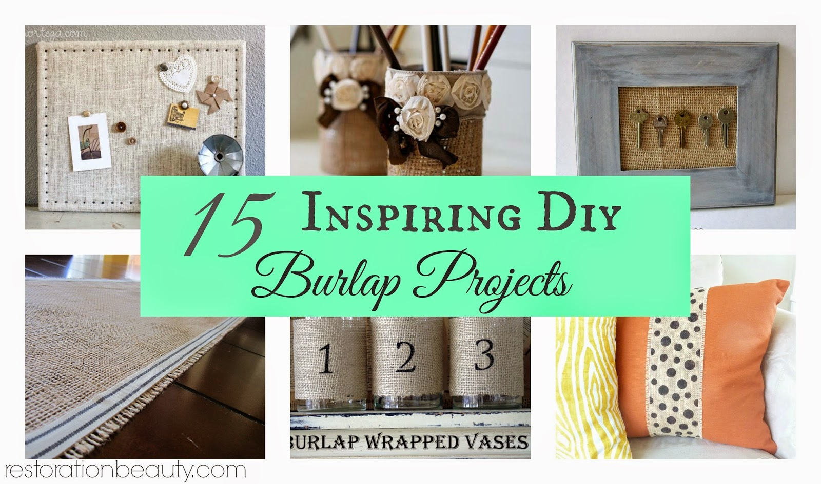 15 Inspiring Burlap Projects