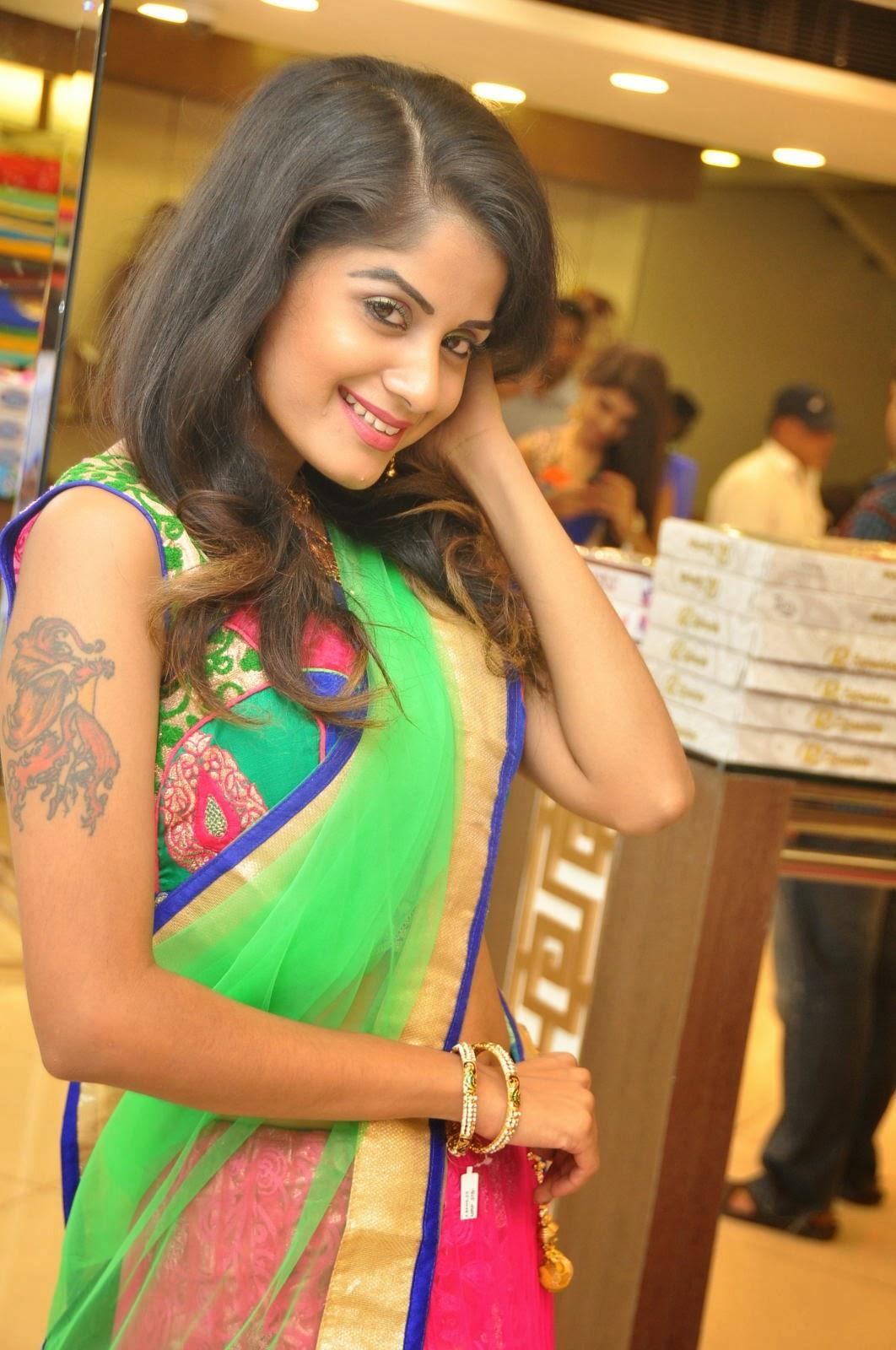 Anukruthi Glam pics in half saree-HQ-Photo-15