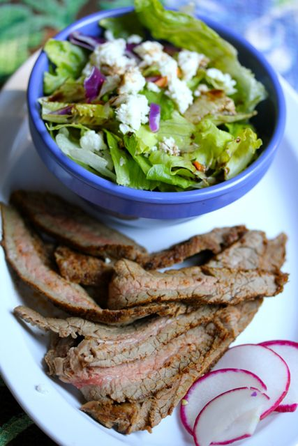 spicy cinnamon flank steak
