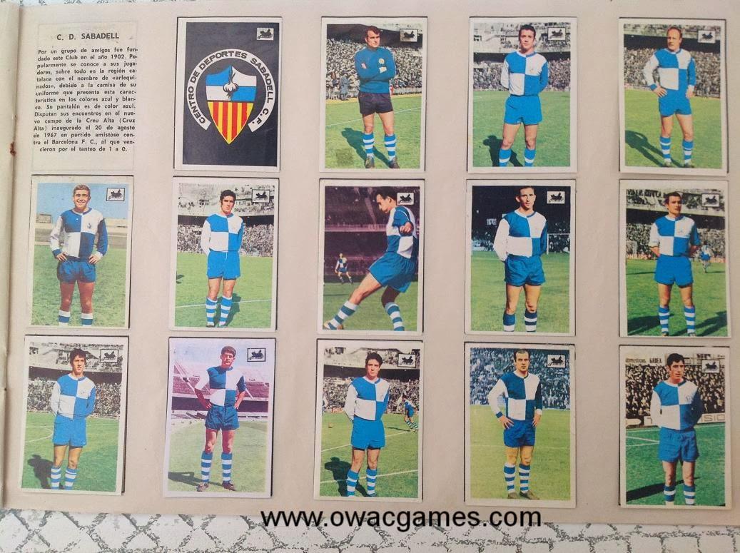 C.D. Sabadell 1969-70 Chocolates La Cibeles
