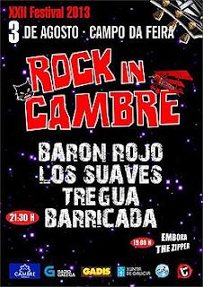 Barricada, Los Suaves y Barón Rojo al Rock In Cambre 2013
